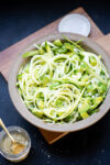 Avocado and zucchini, an easy and delicious salad
