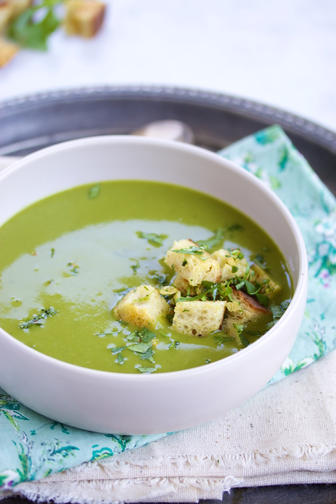 broccoli soup with spinach