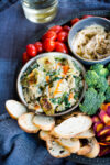 Vegan artichoke and kale dip