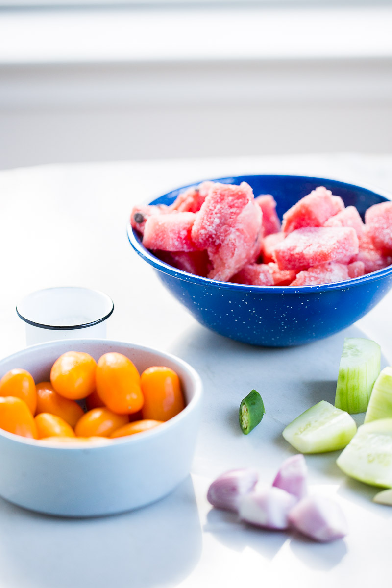 ingredients for cold watermelon soup
