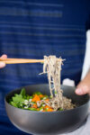 vegan soba noodles with 6 ingredient cashew sauce
