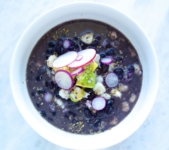 Posole and black bean soup