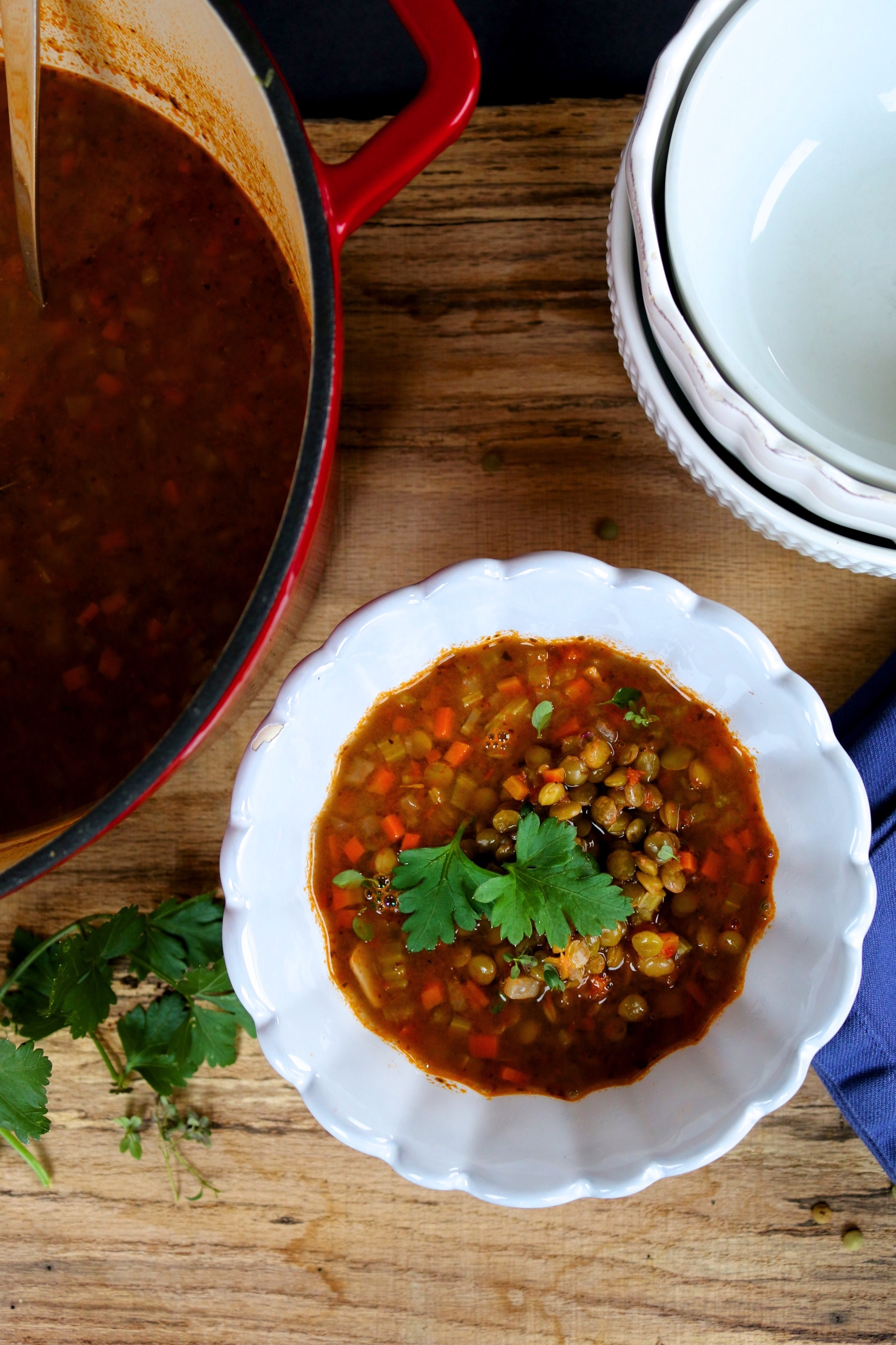 This recipe for Mexican lentil soup is amazing and very easy to prepare. It is full of flavor, vegetables, and benefits. This is one of my favorite soups. #vegan, #vegansoup, #veganlentilsoup