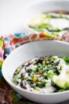 Kale and black bean vegan Insta pot soup