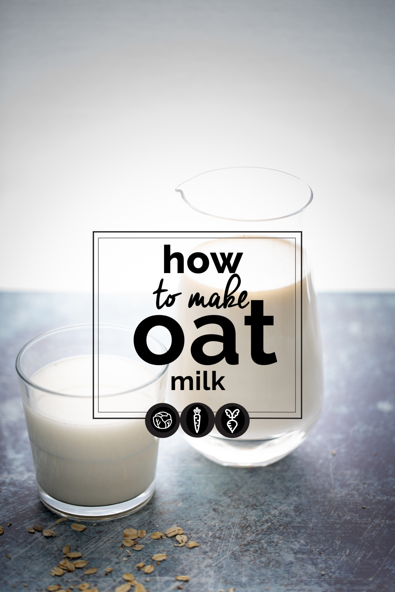 This recipe for oat milk is quick, easy and it only has two ingredients. You could have it plain or flavor it as you wish. #vegan,#plantbased milk