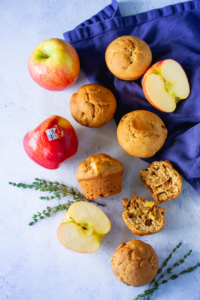 apple and thyme muffins