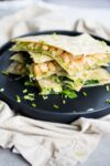 White bean and kale vegan quesadillas