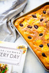 Lemon and olive focaccia
