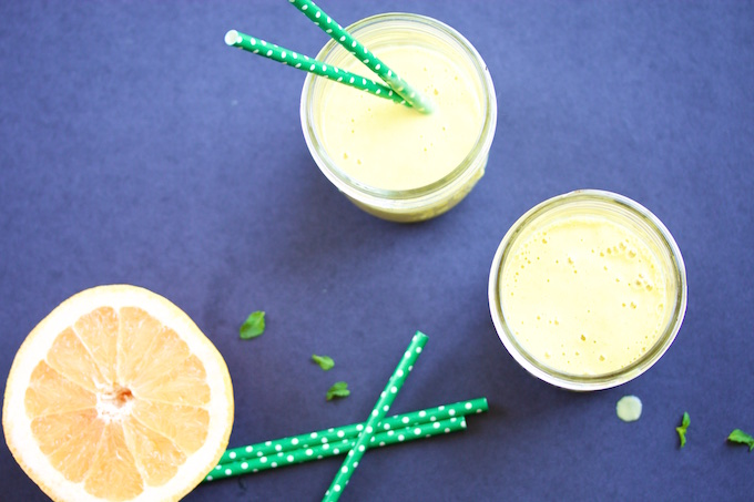 Mango, grapefruit juice and mint smoothie: Perfect breakfast or after school snack