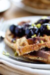Waffles with chia and cherries