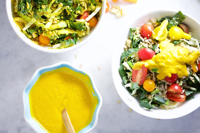 Ginger and carrot dressing