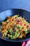 Chickpea and farro salad with curry dressing
