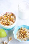 Oats and amaranth porridge with caramelized pears