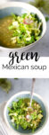 The best recipe for vegan Green Mexican Soup with chickpeas. A delicious recipe that makes soup extreamly delish.