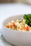 Gluten free pasta with roasted broccolini and tomatoes recipe.