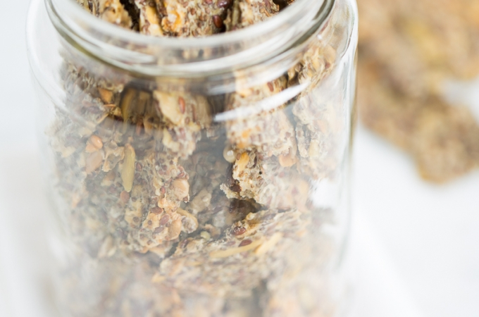 Chia seeds crackers