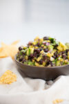 Pineapple salsa with black beans and avocado