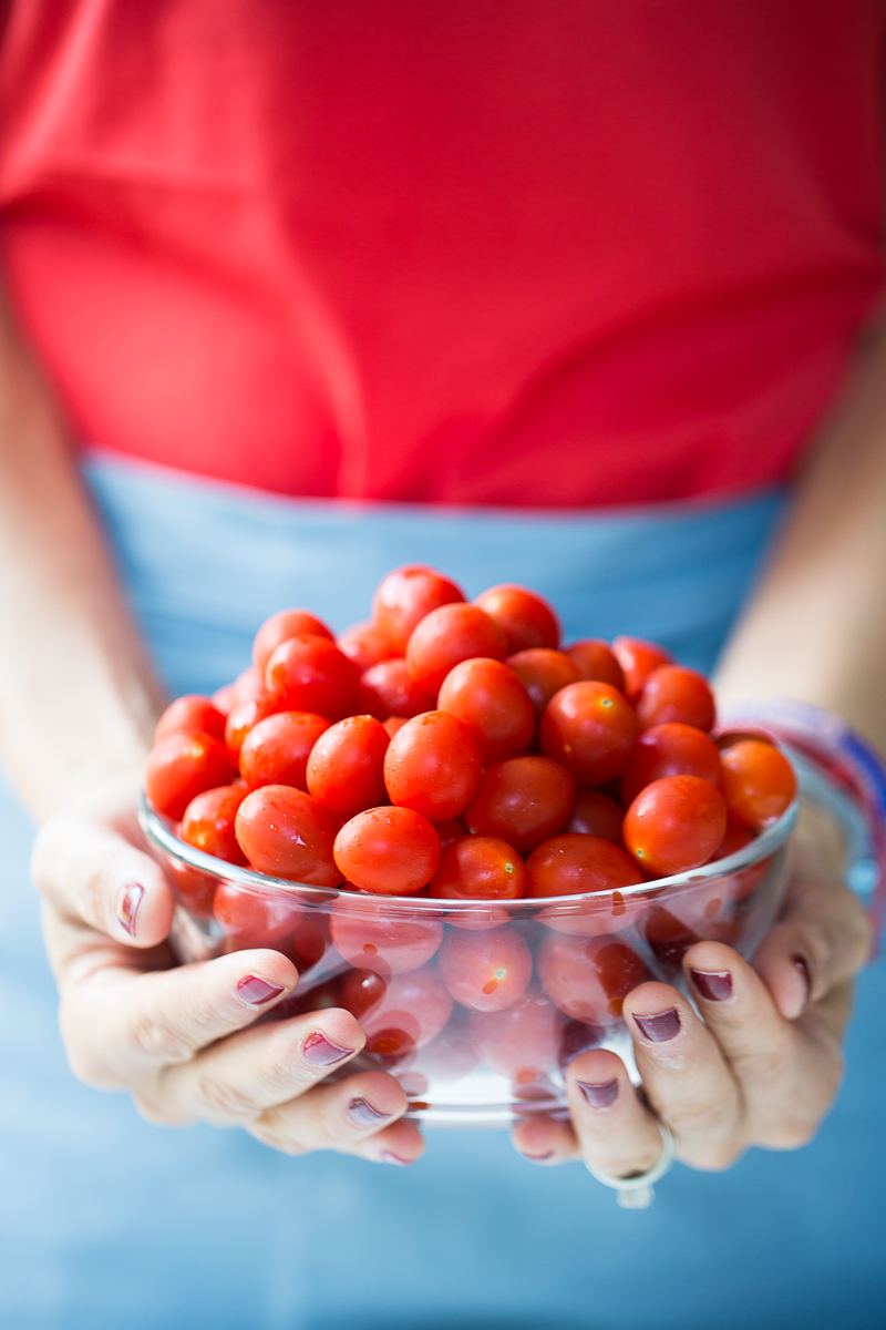 A bowl of cherry tomatoes