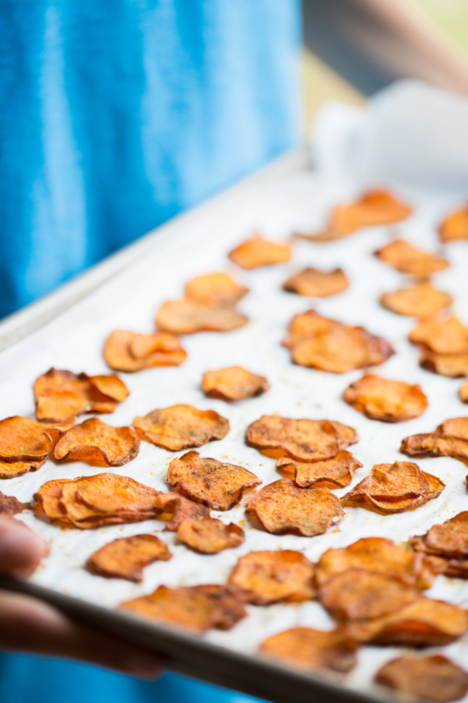how to make healthy sweet potato crisps