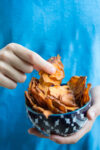 Healthy Sweet Potato homemade chips and newsletter update