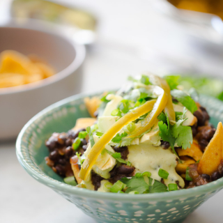 Recipe for almost super healthy vegan frito pie.