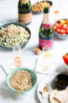 Sparkling wine with friends and a cauliflower salad