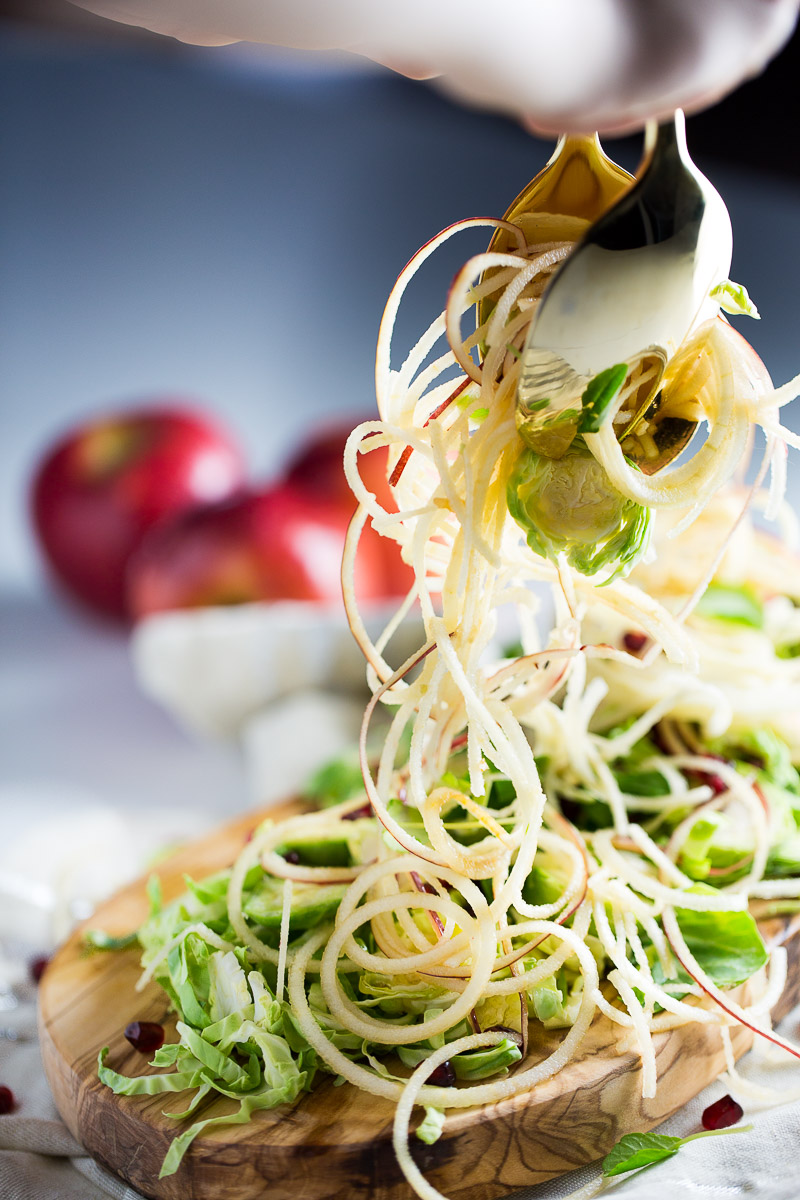 apple and brussel sprout salad