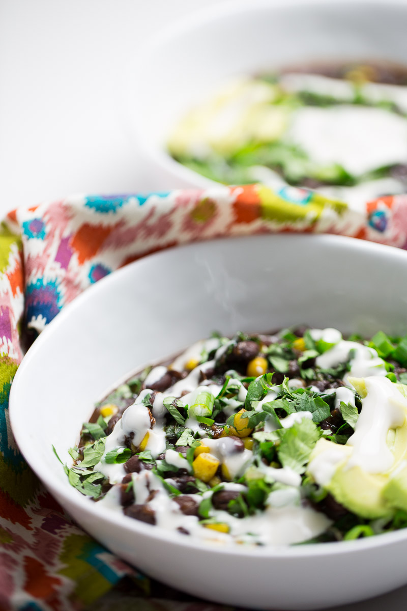 This recipe for black bean vegan insta pot soup is a game changer. Beans, greens, spices, and deliciousness waiting for you to arrive home. #vegan,#veganrecipe,#veganinstapotrecipe, #intapotvegan
