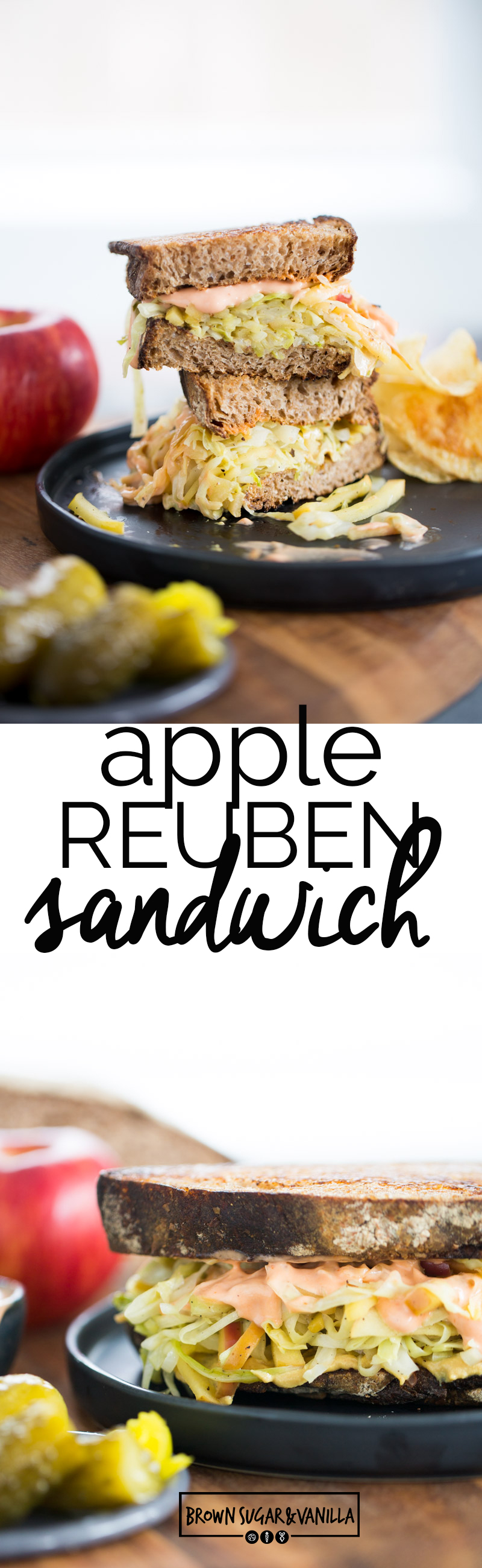 This Apple Reuben Sandwich is vegan and the perfect healthier alternative to a classic Reuben Sandwich. It's super easy to make, delicious, and very nutritious.