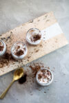 Vegan chocolate mousse with a Mexican touch