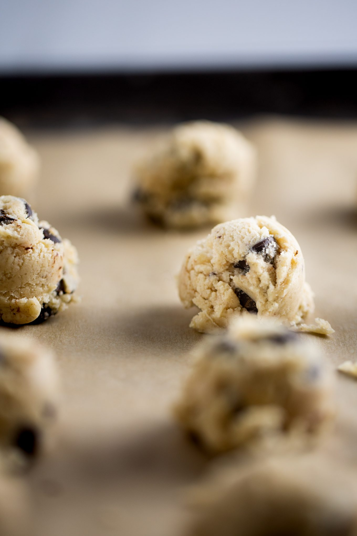 chocolate chips before going into the oven