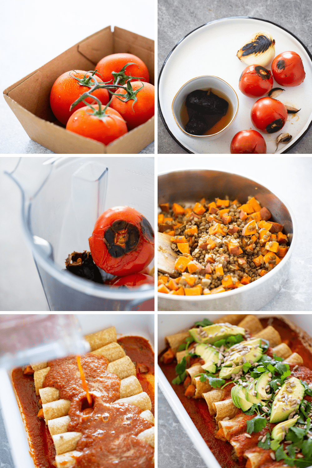 Step by step on how to make enchiladas
