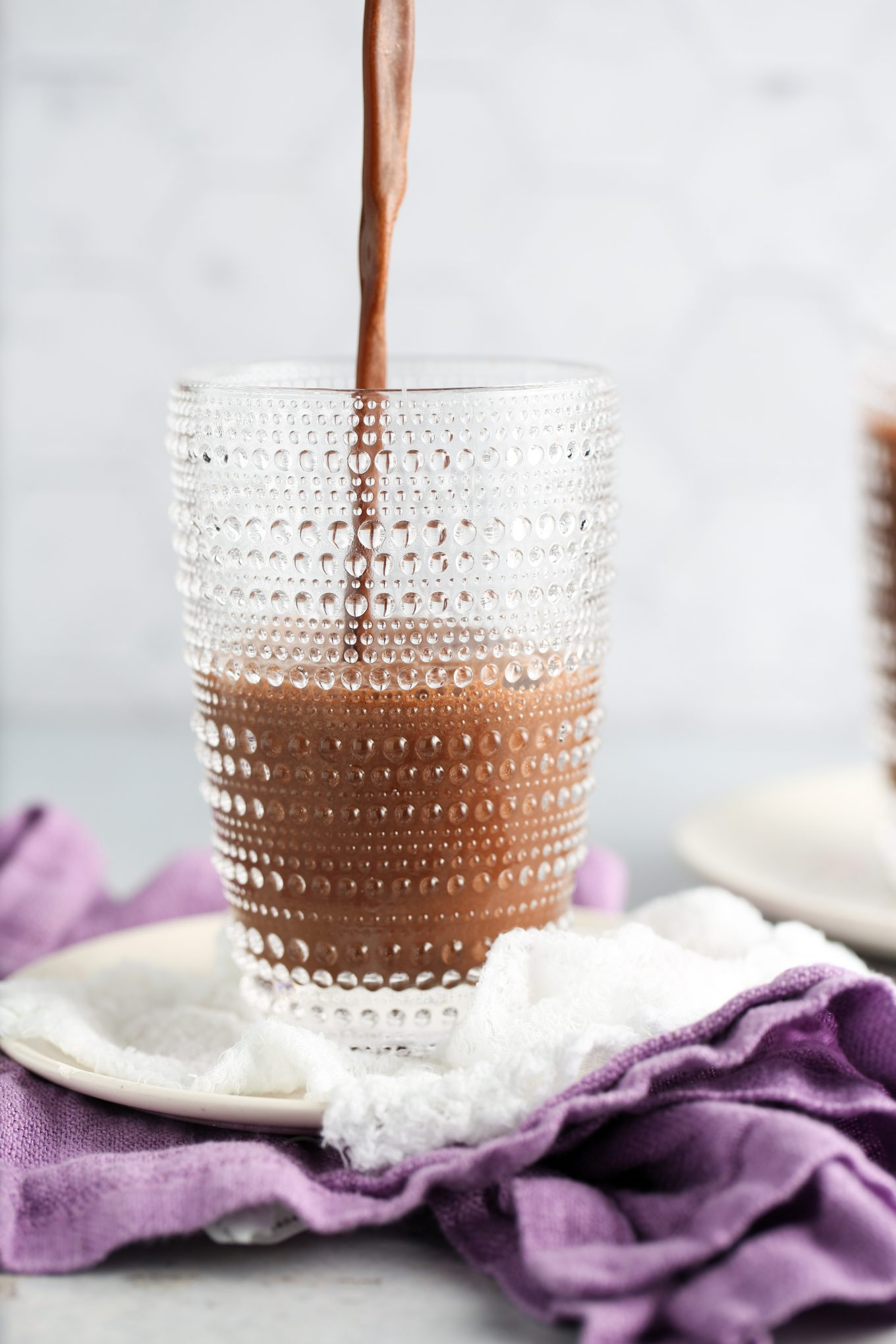 serving HEALTHY HOMEMADE FRAPPUCCINO